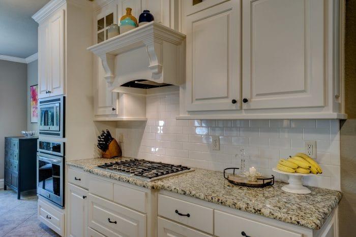 All white kitchen workspace