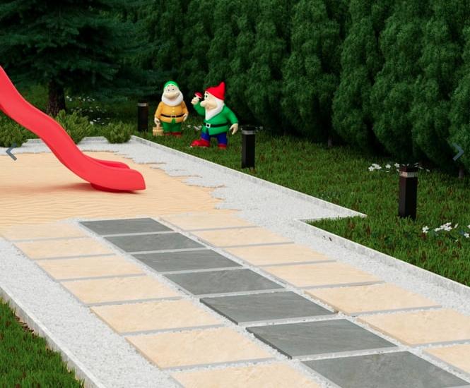cream and grey outdoor tiles