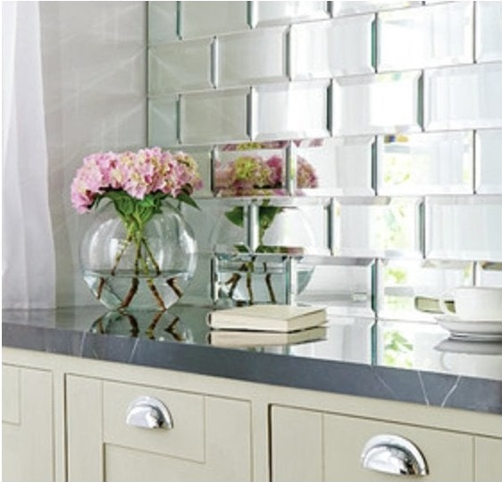 mirror tiles splashback