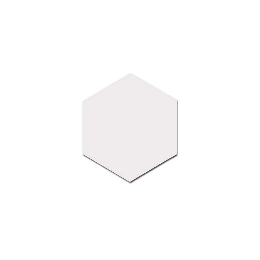 Allegory Hexagon White 17.5cm x 20cm Wall & Floor Tile