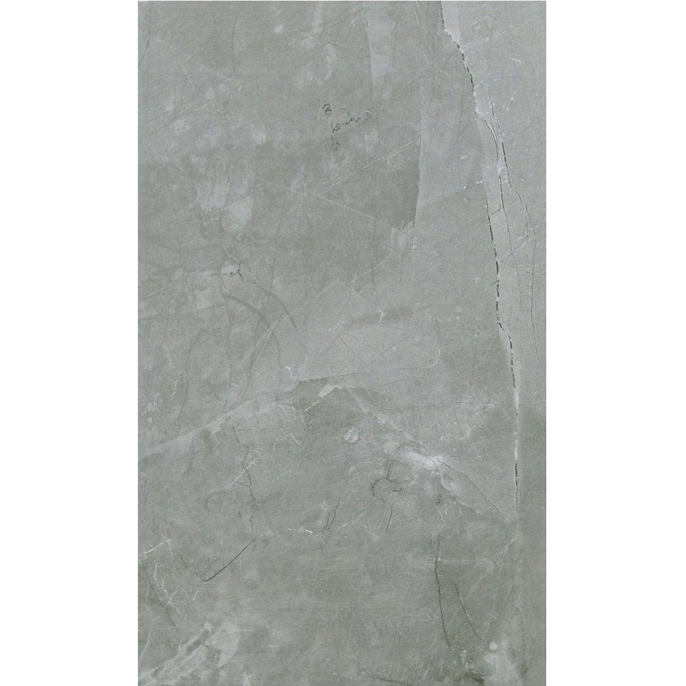 Arlington Silver Matt Stone Effect High Definition Ceramic 29 8cm x 49 8cm  Wall & Floor Tile