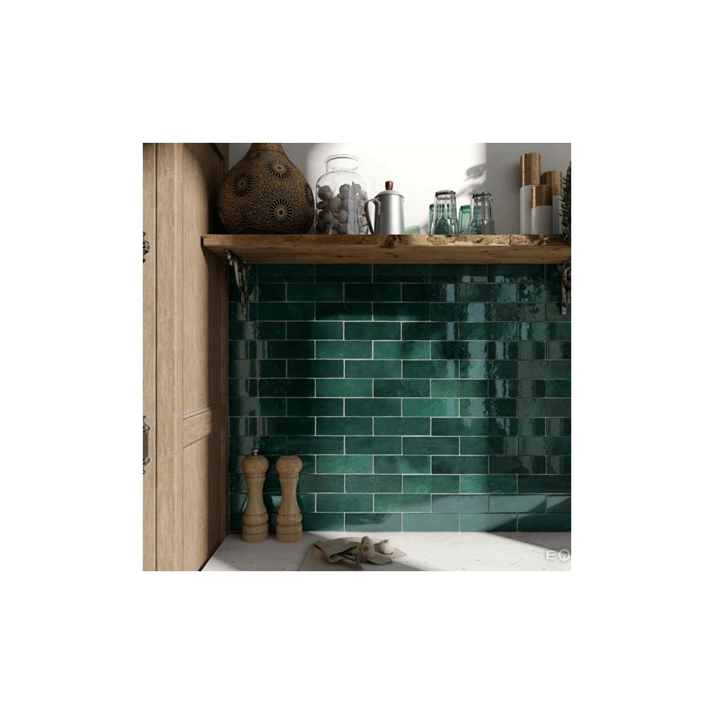 Moss Green 6 5cm X 20cm Wall Tile