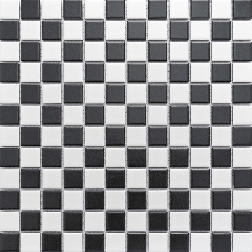 Black And White Chequer Matt 2 3cm X