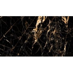 Black Gold Marble Effect 60cm X 120cm Wall Floor Tile