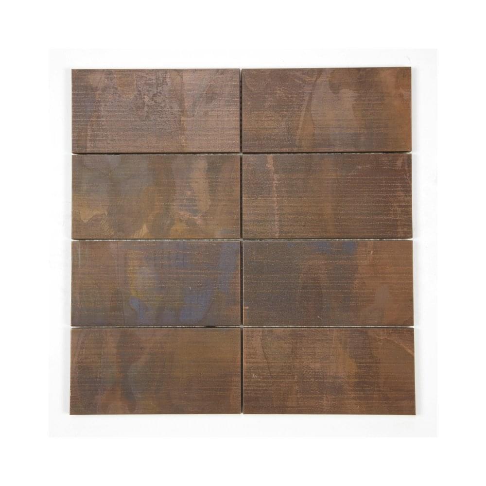 Brick Oxidised Copper 30 2cm X 30 2cm Mosaic Tile