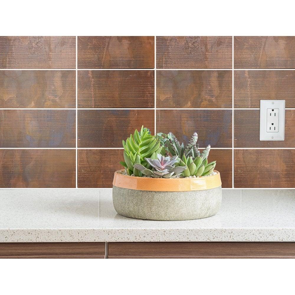 Brick Oxidised Copper 30 6cm X 2cm