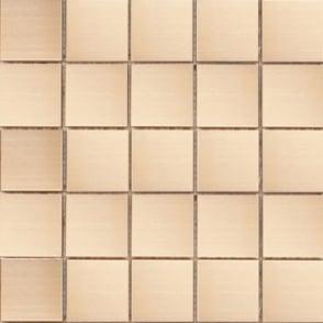 Canna Matt Steel (4.8cm x 4.8cm) 30cm x 30cm Mosaic Tile