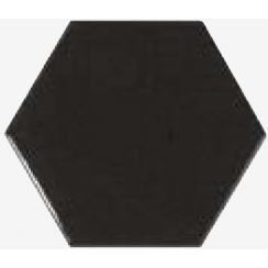 Chevron Hexagon Black 12.4cm x 10.7cm Wall Tile PER BOX