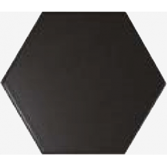 Chevron Hexagon Black Matt 12.4cm x 10.7cm Wall Tile PER BOX