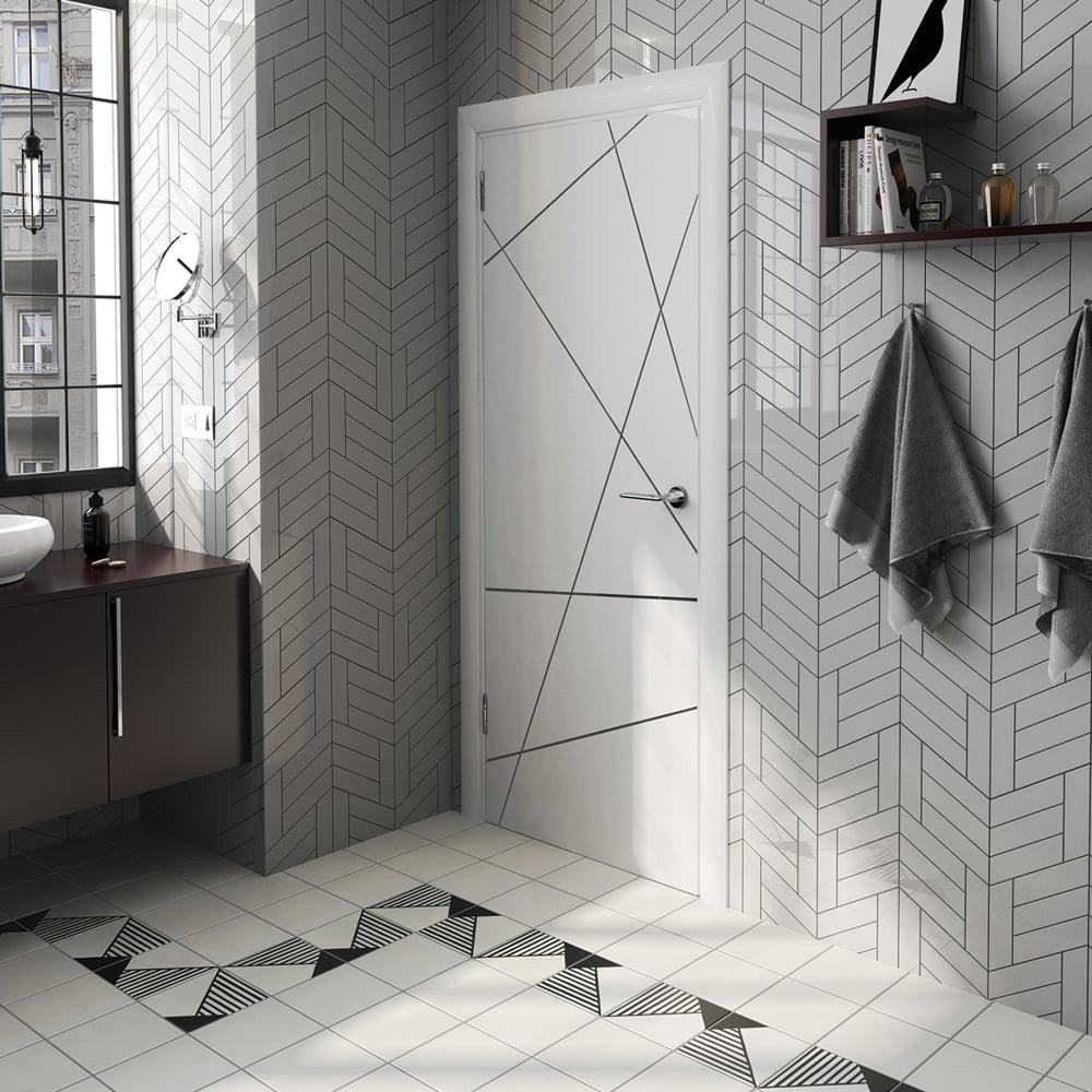 chevron light grey left 18 6 x 5 2cm wall tile per box