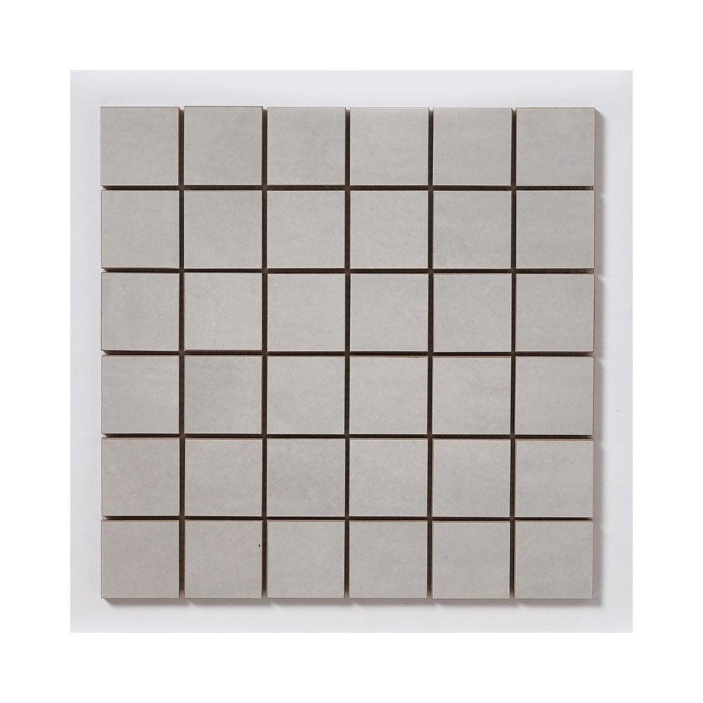 Concrete Flower Light Grey 29 7cm X Mosaic Tile