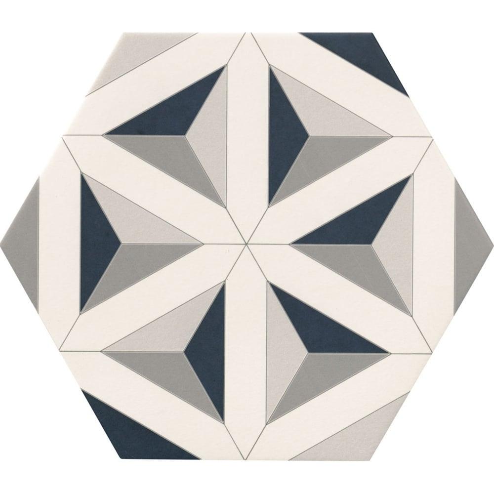 Contour Shadow Hexagon Tile 30cm X 28 5cm Floor Tile