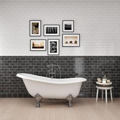 Bathroom Tiles For Walls Floors Showers Get Great Prices Online - Grey-bathroom-wall-tile