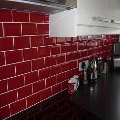 Metro Tiles Uk Brick Effect Subway Tiles For Kitchen Walls