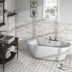 Hexagonal Tiles Wall Floor For