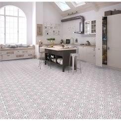 Patterned Floor Wall Tiles In Geometric Vintage Patterns