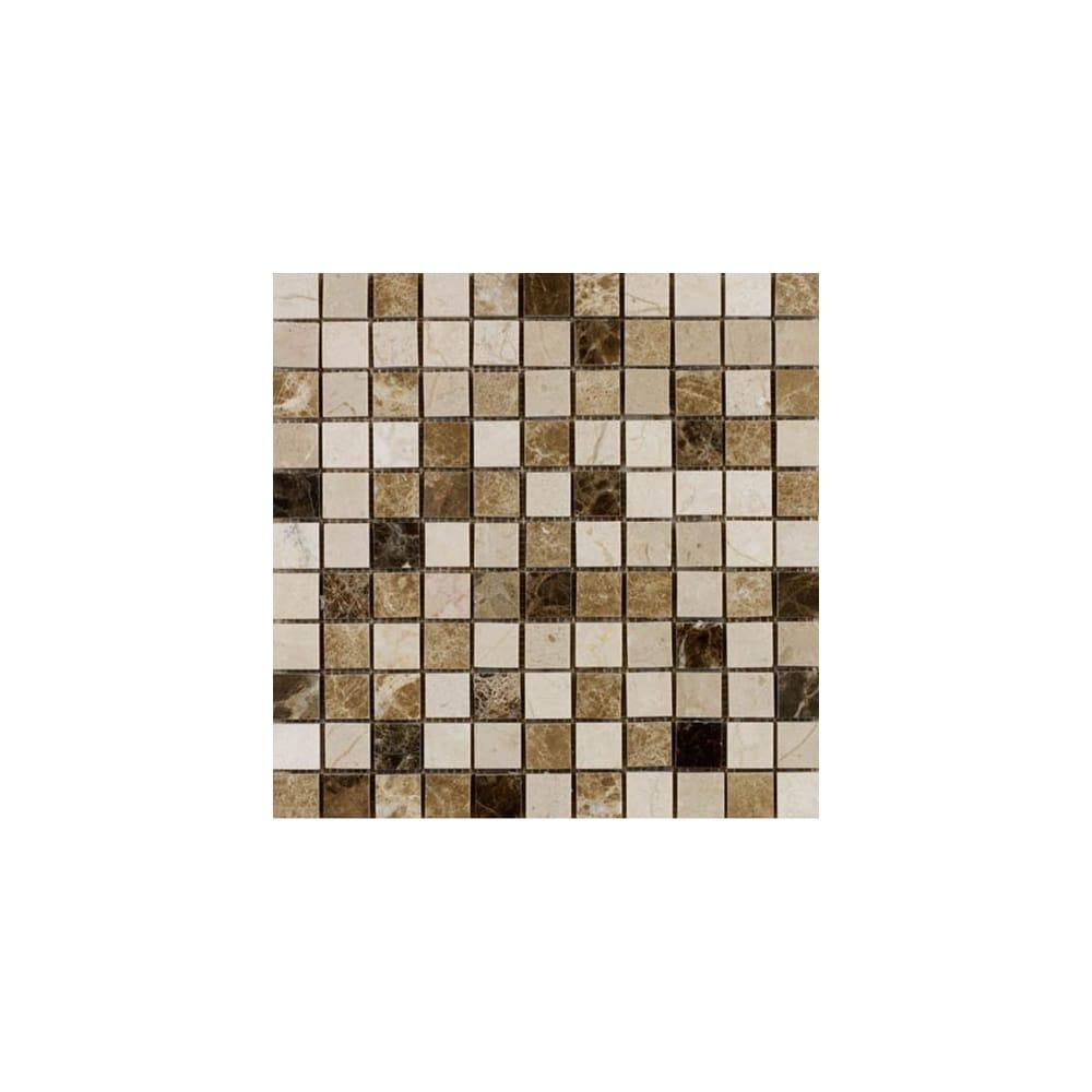 Emperador Mix Mosaic 2 3cm X 30cm Tile