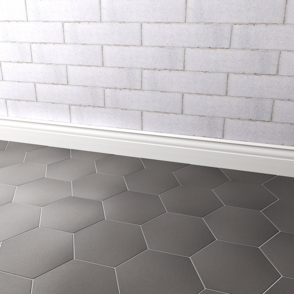 Body hexagon matt black 20cm x 174cm wall floor tile full body hexagon matt black 20cm x 174cm wall floor tile dailygadgetfo Image collections