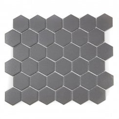 bathroom floor tiles honeycomb. Full Body Hexagon Matt Dark Grey Mosaic 32.5cm X 28.1cm Wall \u0026 Floor Tile Bathroom Floor Tiles Honeycomb