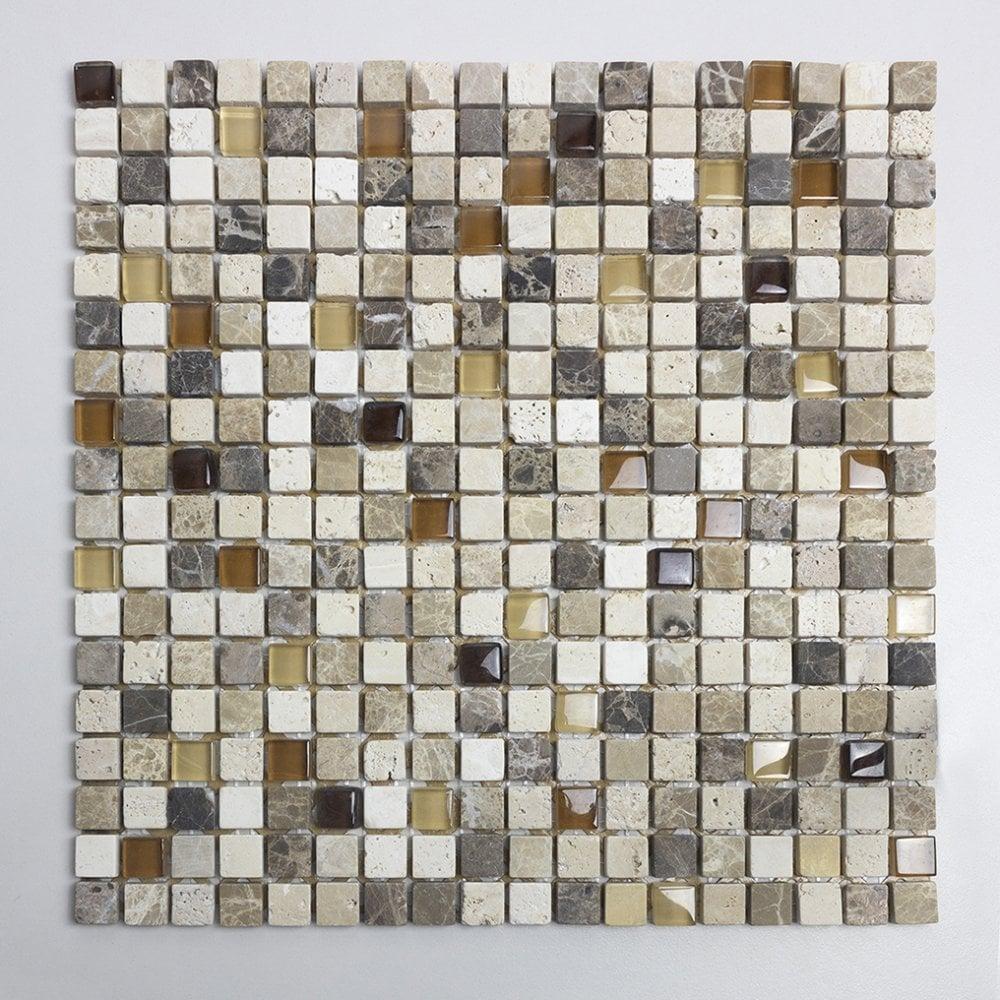 Gemini Stone Glass 30cm X 30cm Mosaic Tile