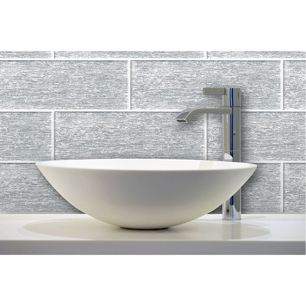 Glitter Silver 10cm X 30cm Wall Tile