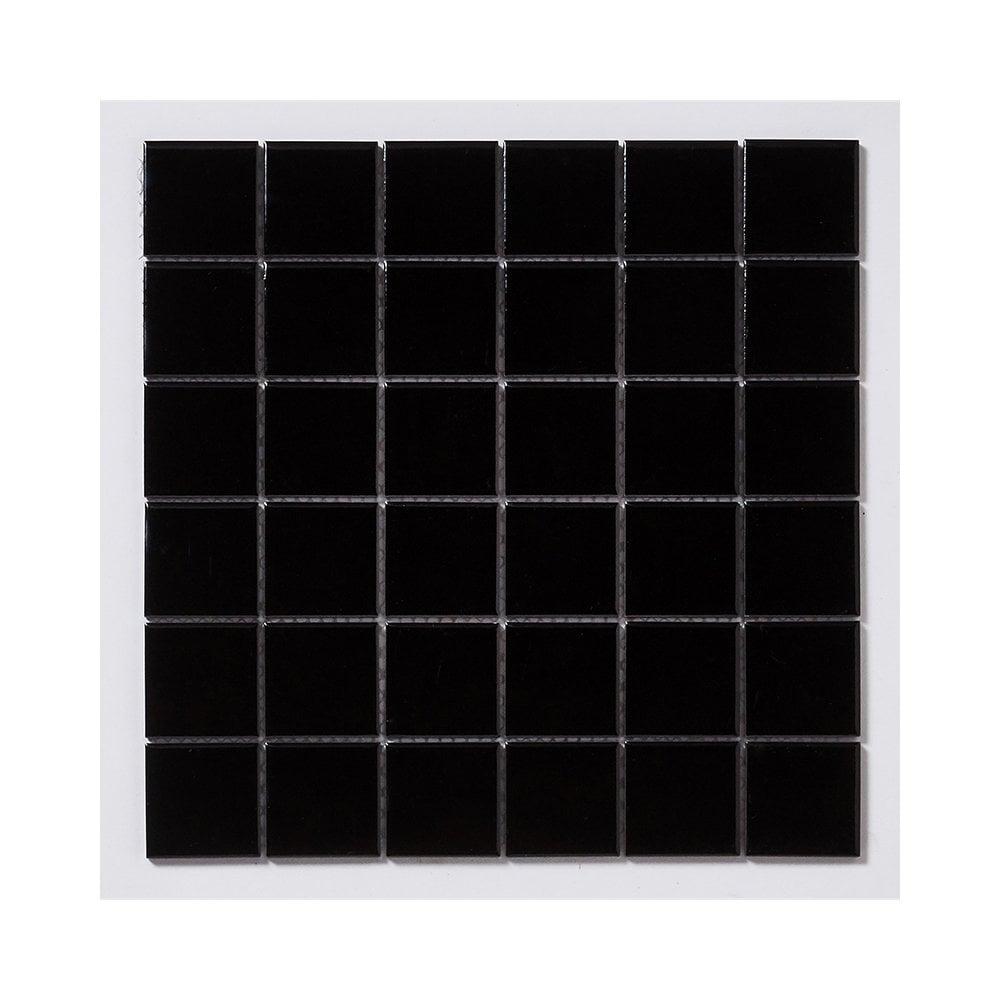 Gloss Black Square Large 30cm X