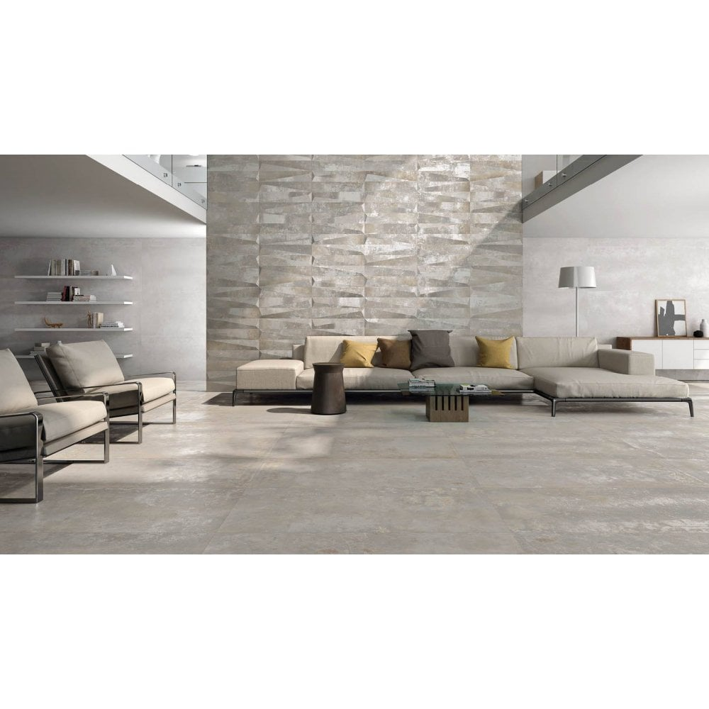 Silver 45cm X 90cm Wall And Floor Tile