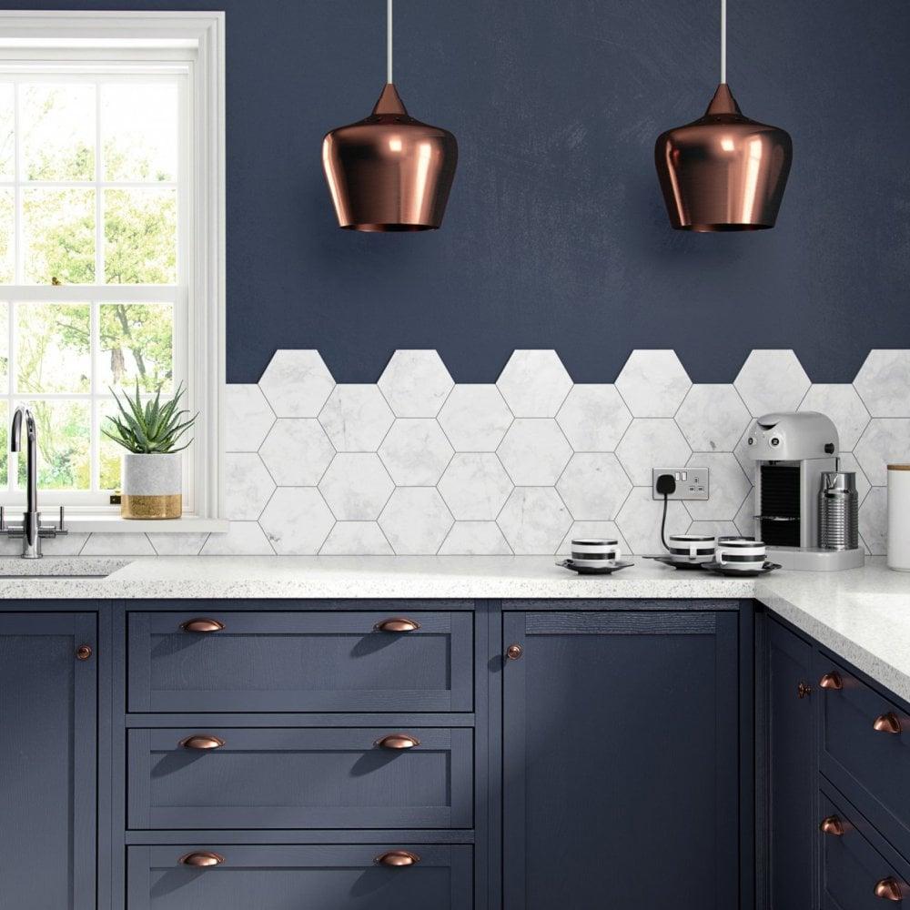 Hd Laurel White Marble Hexagon 175mm X