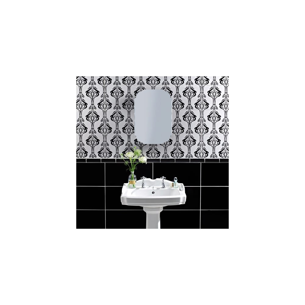 Home Decor Wall Tiles : Hemingway black decor cm wall tile