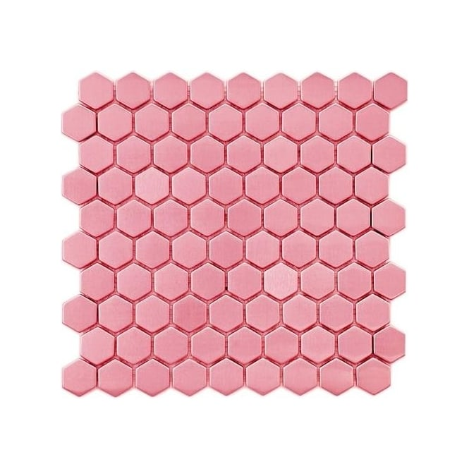 Hexagon Gloss Baby Pink 3 4 Cm X 3 4cm 30cm X 30cm