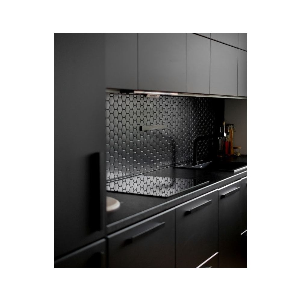 Hexagon Matt Black 5 1 Cm X 5 9cm 32cm X 28cm Mosaic Tile