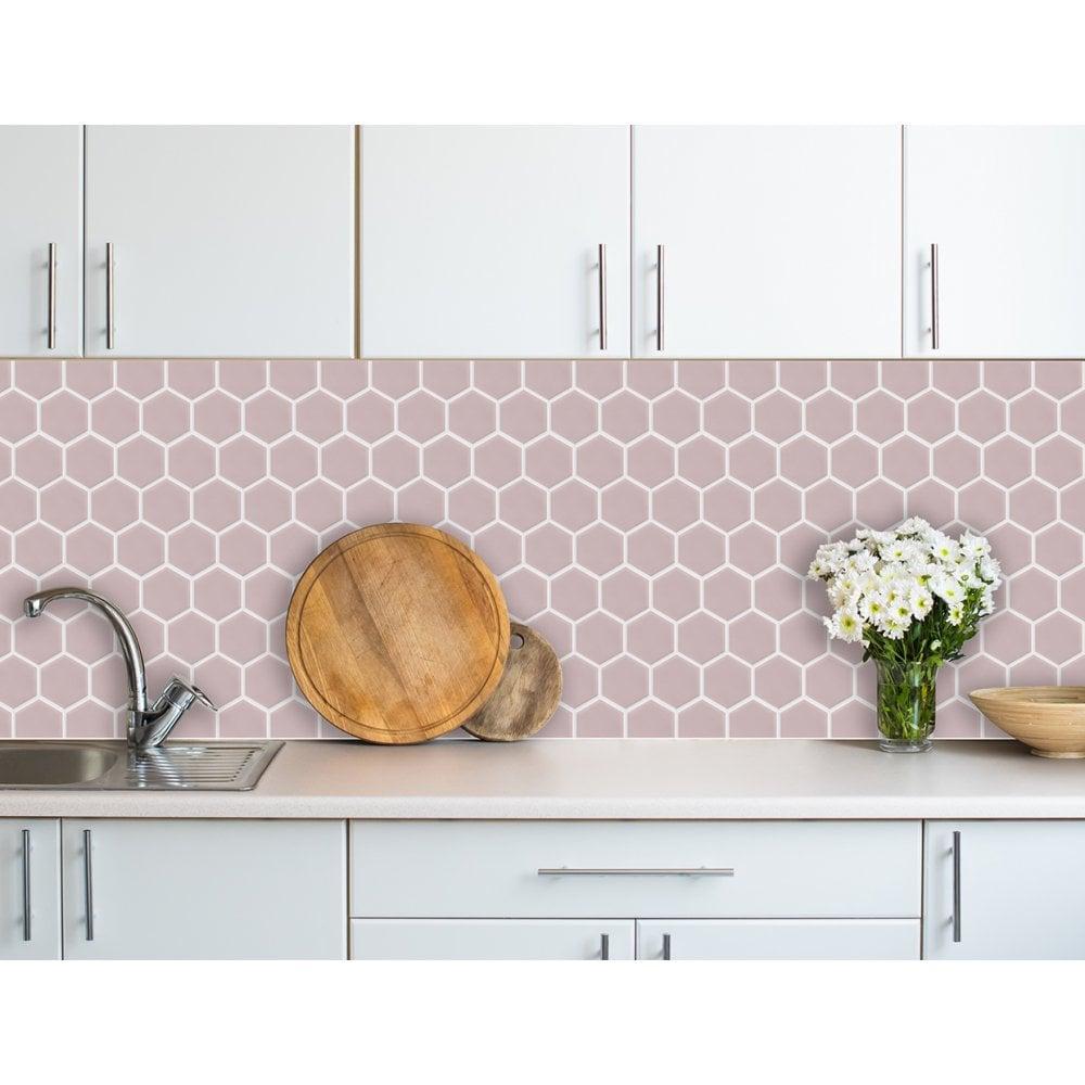 Hexagon Matt Pink Mosaic 9 5cm X