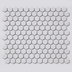 Hexagon Matt White 2 3cm X 30cm 26cm Mosaic Tile