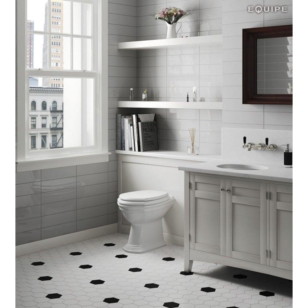 Hexagon White Matt 11.6cm x 10cm Porcelain Wall & Floor Tile