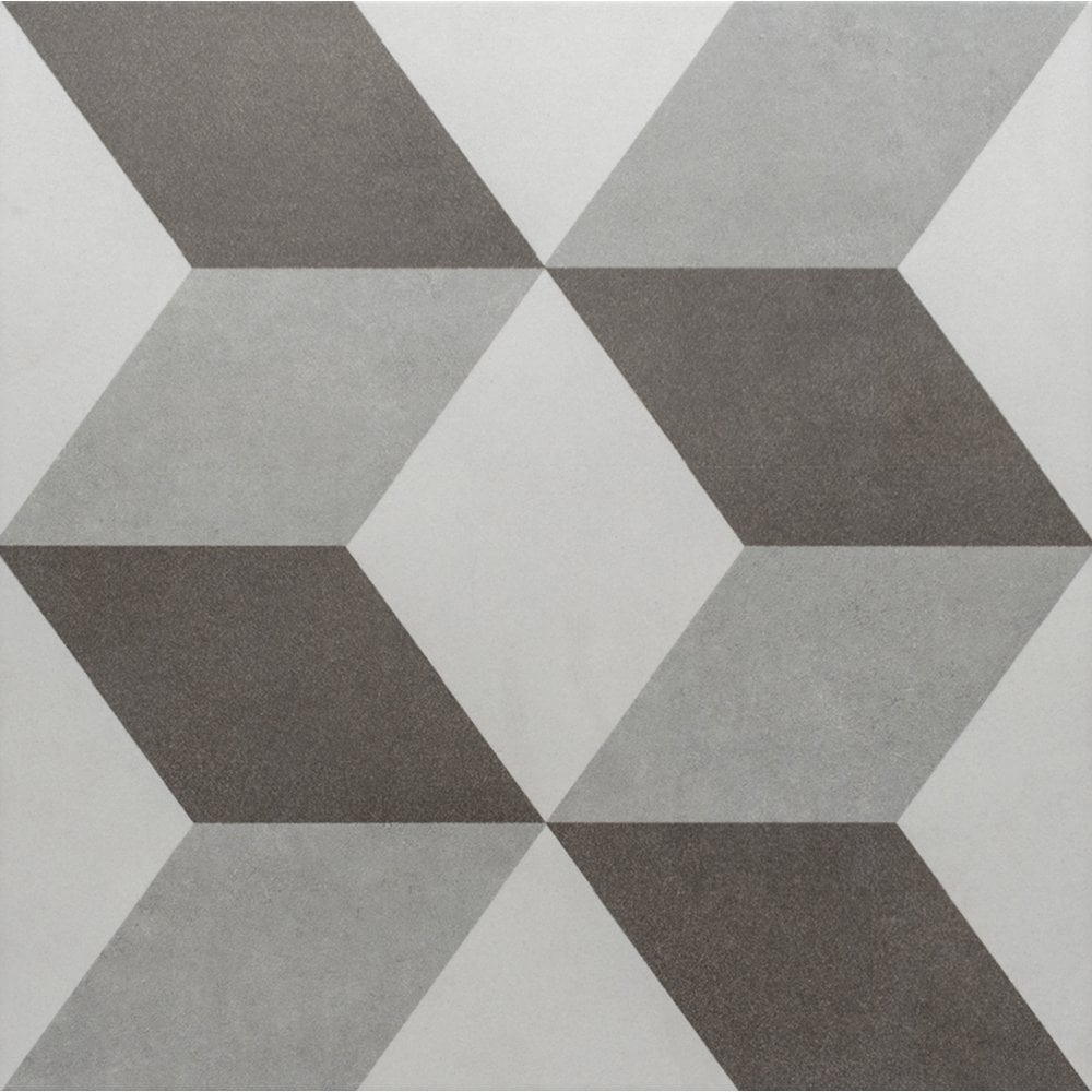 Gentil British Ceramic Tile Illusion Chevron Grey 31cm X 31cm Wall U0026 Floor Tile  Product ID: 12644
