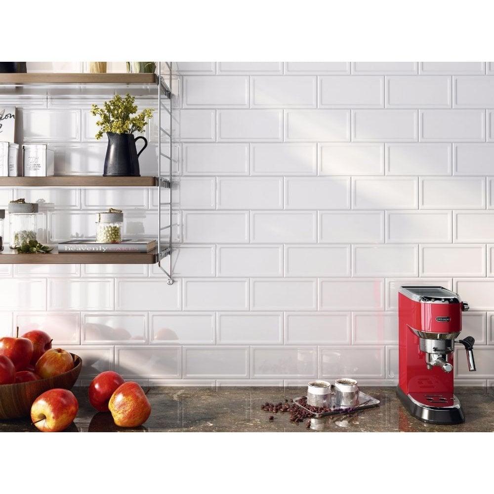White Metro Tiles Buy 10x20cm White Brick Metro Wall Tiles