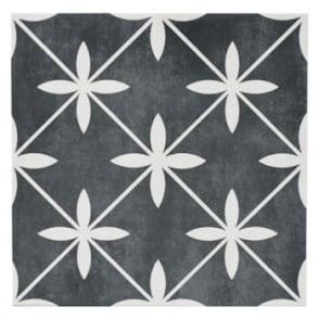 Laura Ashley Wicker Charcoal 33cm x 33cm Floor Tile