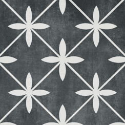 Laura Ashley Wicker Charcoal 49.8cm X 49.8cm Floor Tile