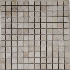 Light Travertine Mosaic 30cm x 30cm