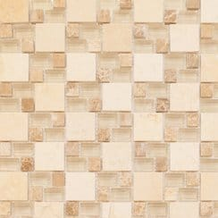 Lucca Stone Beige 30cm x 30cm Glass Mosaic