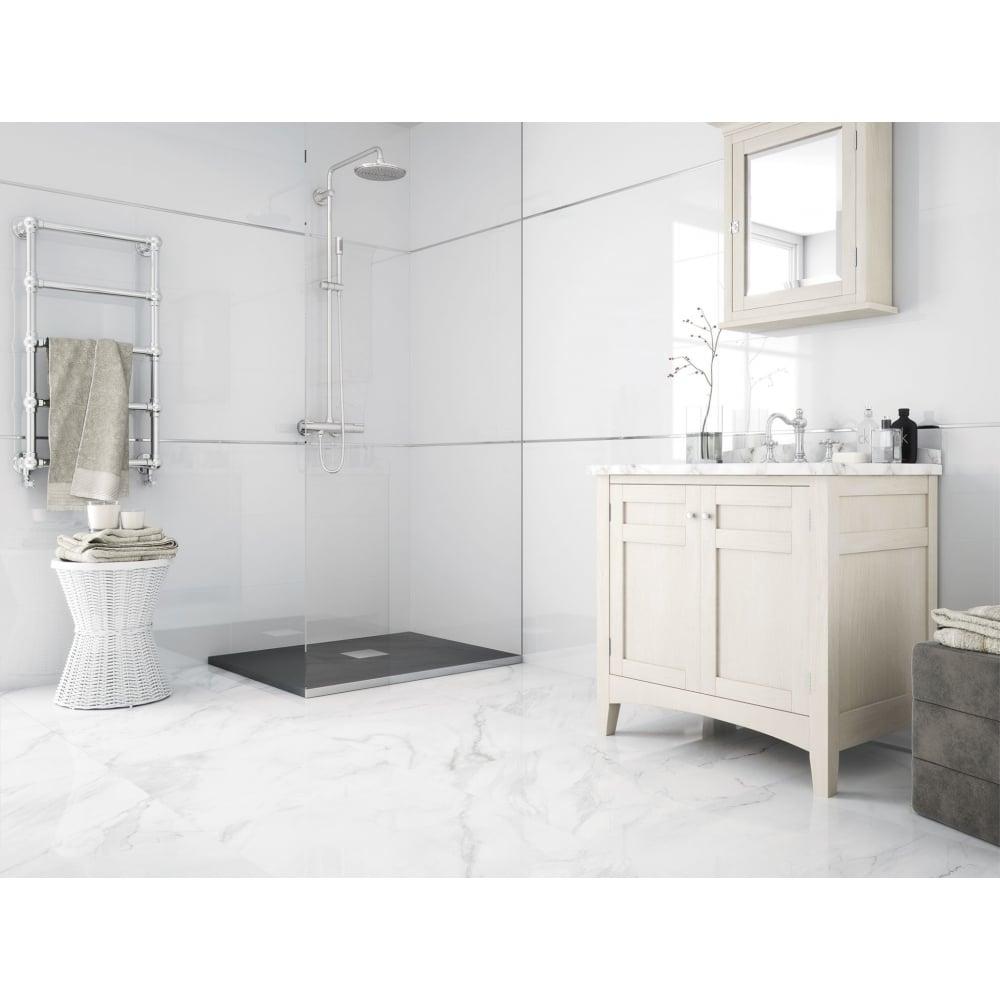 Majestic White Matt 60cm x 60cm Wall & Floor Tile