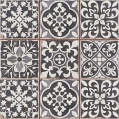 Marrakesh Black Decor 33cm x 33cm Wall & Floor Tile