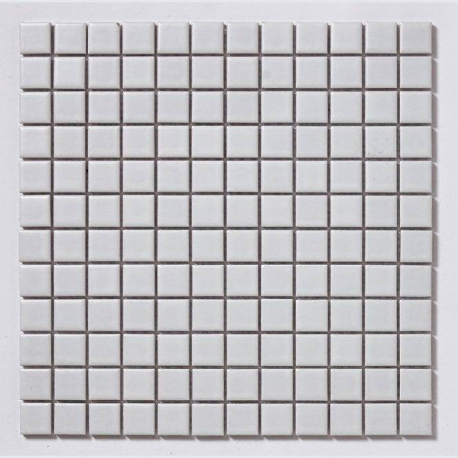 Matt White Small Square 30cm X 30cm Toto Mosaic