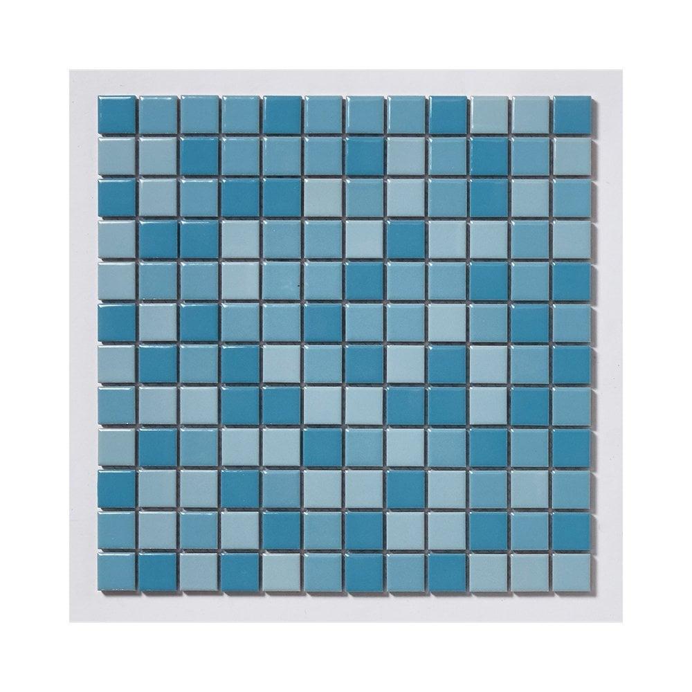 Mediterranean Swimming Pool 30cm x 30cm (2.3cm x 2.3cm) Mosaic Tile