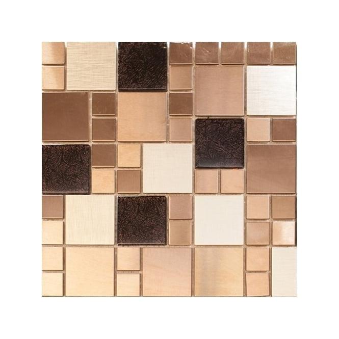 Metallic Random Copper Mix 30cm x 30cm Mosaic