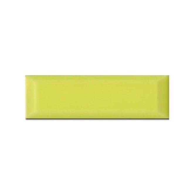 Metro Brick Gloss Lime 10cm x 30cm Wall Tile