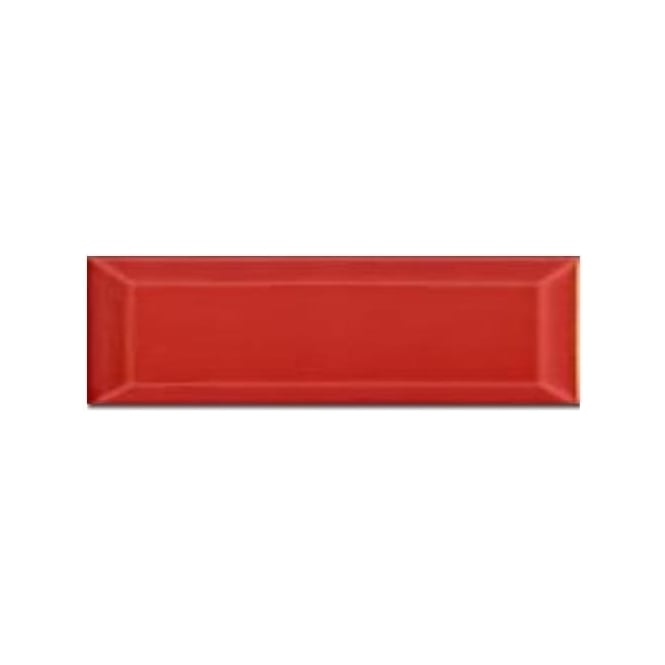 Metro Brick Gloss Red 10cm x 30cm Wall Tile