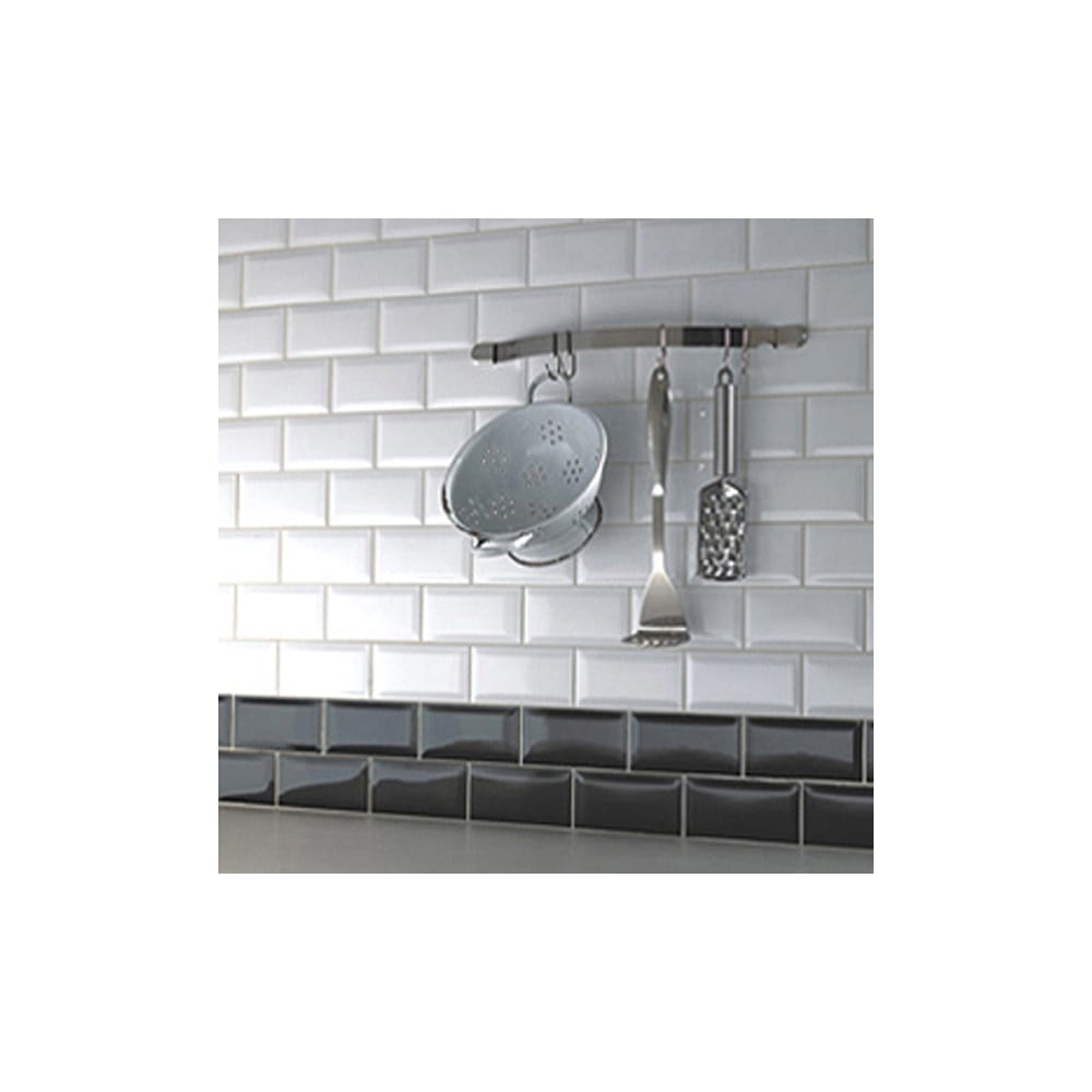 Metro Brick Gloss White 10cm x 20cm Wall Tile