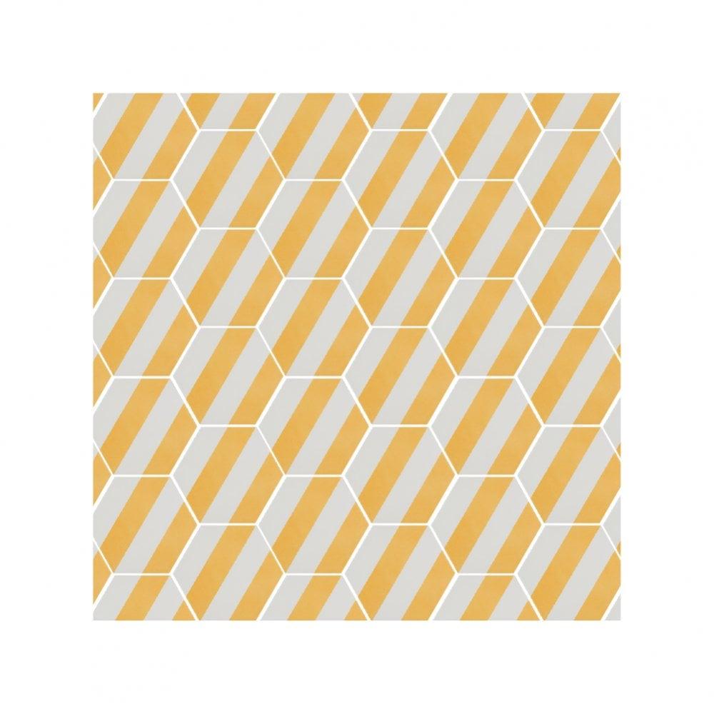 naples hexagon yellow 22 8cm x 19 8cm wall floor tile