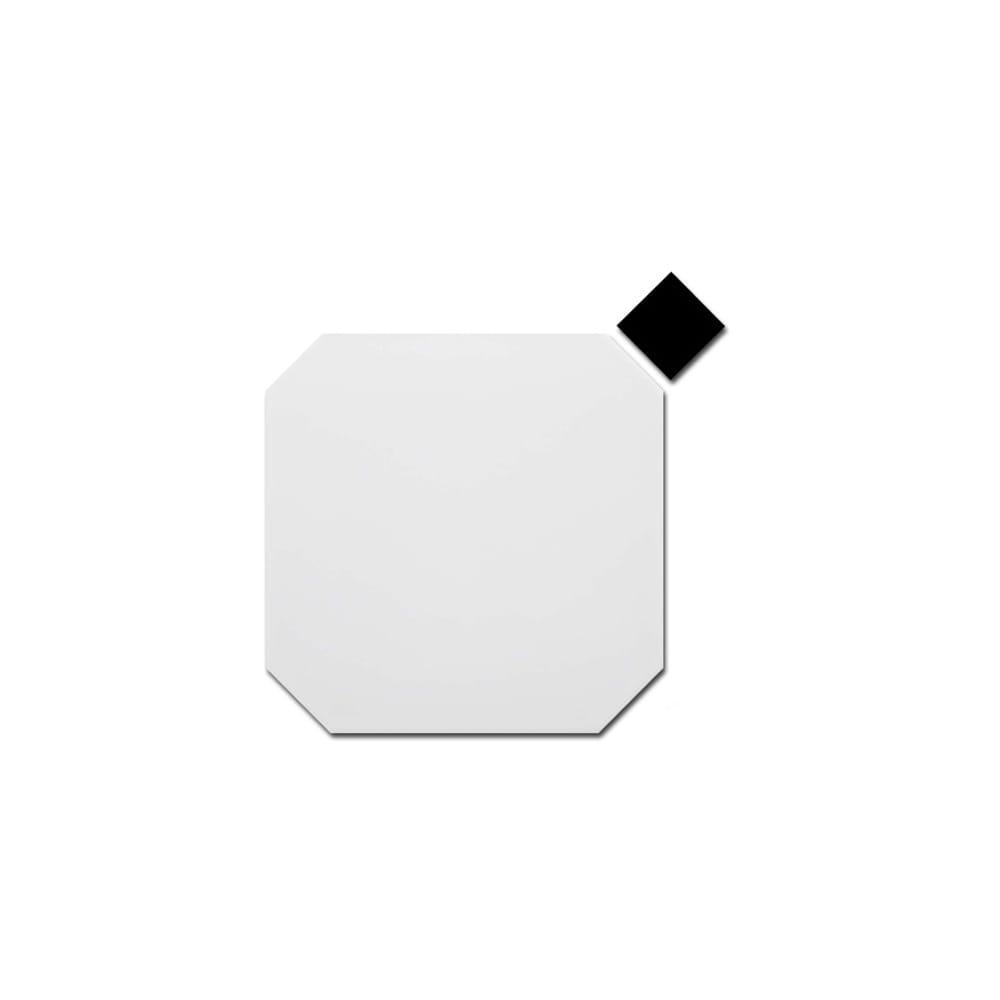 Octagon Matt White 20cm x 20cm Tile